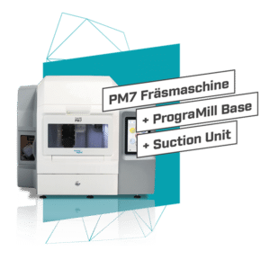 PM7 Fräsmaschine mit Base und Suction Unit